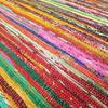 Green Colorful Woven Chindi Boho Bohemian Area Rag Rug Decorative - 3 X 5 ft 3