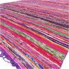 "Purple Decorative Colorful Boho Bohemian Chindi Woven Area Rag Rug - 5 X 8"" 2"