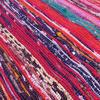 "Purple Decorative Colorful Boho Bohemian Chindi Woven Area Rag Rug - 5 X 8"" 4"