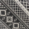 Black Cotton Block Print Area Accent Dhurrie Rug Flat Weave Boho Rug - 4 X 6 ft 5