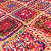 Colorful Woven Jute Chindi Braided Area Decorative Bohemian Rag Rug - 4 X 6 ft 4