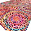 Colorful Pop Boho Woven Jute Chindi Braided Area Decorative Rag Rug - 4 X 6 ft 1