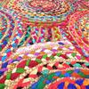 Colorful Pop Boho Woven Jute Chindi Braided Area Decorative Rag Rug - 4 X 6 ft 4