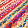 Colorful Striped Woven Jute Chindi Braided Area Decorative Rag Rug - 3 X 5 ft 4