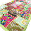 """Green Embroidered Decorative Multicolor Boho Wall Hanging Tapestry - 20 X 60"""""""