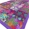 "Purple Patchwork Tapestry Wall Hanging Bohemian Boho Decorative - 20 X 60"""