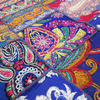 "Blue Embroidered Decorative Bohemian Multicolor Wall Hanging Tapestry - 22 X 80"" 3"