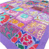 Purple Decorative Embroidered Patchwork Tapestry Boho Wall Hanging - 22 X 80""