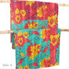Colorful Vintage Reversible Kantha Quilt Throw Tapestry Bedspread - Small/Twin