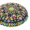"""Black Boho Embroidered Round Bohemian Colorful Floor Seating Meditation Pillow Cushion Throw Cover - 24"""" 4"""