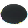"""Black Boho Embroidered Round Bohemian Colorful Floor Seating Meditation Pillow Cushion Throw Cover - 24"""" 8"""