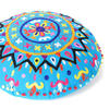 "Blue Decorative Round Floor Pillow Cushion Cover Seating Meditation Throw Indian Bohemian Boho - 24"" 3"