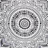 "Black & White Round Ombre Meditation Floor Pillow Cover Boho Throw - 32"" 6"