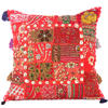 """Red Patchwork Colorful Decorative Sofa Throw Pillow Bohemian Boho Couch Cushion Cover - 20"""""""