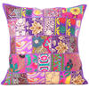 """Purple Patchwork Colorful Decorative Boho Bohemian Pillow Couch Cushion Sofa Throw Cover - 20"""""""