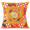 Yellow Colorful Decorative Patchwork Sofa Throw Couch Pillow Cover Cushion Bohemian Boho - 16""