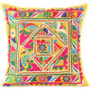 """Yellow Patchwork Colorful Throw Couch Pillow Cushion Sofa Bohemian Boho Cover - 24"""""""
