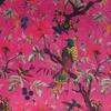 "Burgundy Red Velvet Colorful Decorative Bird Throw Sofa Cushion Boho Couch Pillow Cover - 16, 20"", 24"" 3"