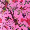 "Pink Velvet Colorful Decorative Bird Throw Sofa Boho Bohemian Cushion Couch Pillow Cover - 16"", 20"", 24"" 3"