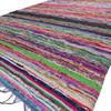 Blue Decorative Colorful Woven Chindi Boho Bohemian Rug Rag - 4 X 6 ft