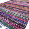 Blue Decorative Colorful Woven Chindi Boho Bohemian Rug Rag - 4 X 6 ft