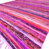 Pink Decorative Colorful Woven Chindi Bohemian Boho Rug Rag - 4 X 6 ft