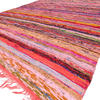 Red Colorful Decorative Woven Chindi Bohemian Boho Rug Rag - 4 X 6 ft