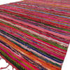 Burgundy Decorative Colorful Bohemian Chindi Woven Area Boho Rag Rug - 5 X 8""
