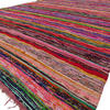 Colorful Brown Decorative Woven Area Rag Rug Chindi Bohemian Boho - 5 X 8 ft