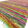 Green Decorative Colorful Chindi Woven Area Bohemian Boho Rag Rug - 5 X 8""