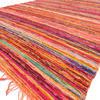 "Orange Decorative Colorful Chindi Boho Woven Bohemian Area Rag Rug - 5 X 8"""
