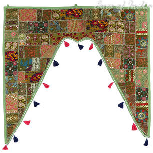 """Olive Boho Bohemian Decorative Door Valance Topper Wall Hanging Tapestry - 40"""""""
