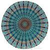 "Blue Round Mandala Floor Pillow Cover Meditation  Seating Throw Hippie Boho Dog Bed - 32"" 5"