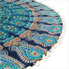 "Decorative Seating Boho Mandala Bohemian Round Floor Cushion Dog Bed Throw Meditation Pillow Cover - 32"" 5"