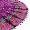 "Purple Colorful Round Mandala Decorative Accent Fllor Pillow Cover Throw Bohemian - 32"" 6"