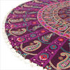 "Purple Round Colorful Mandala Meditation Floor Pillow Cover - 32"" 5"
