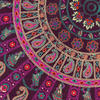 "Purple Round Colorful Mandala Meditation Floor Pillow Cover - 32"" 6"
