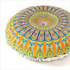 "Decorative Seating Boho Round Colorful Floor Pillow Meditation Cushion Cover Hippie Mandala - 32"" 2"