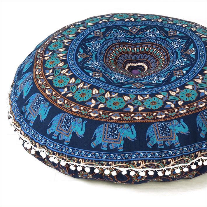 Mandala Floor Pillow Cover Bohemian Indian Cushion Round Pillows Throw Pouf Sofa