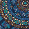 "Blue Boho Mandala Decorative Seating Round Floor Meditation Cushion Throw Pillow Throw Cover - 32"" 6"
