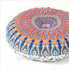 "Decorative Seating Boho Round Colorful Floor Pillow Meditation Cushion Cover Hippie Mandala - 32"" 5"