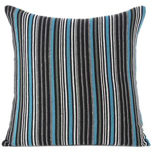 Black Blue Dhurrie Boho Bohemian Colorful Decorative Sofa Throw Couch Pillow Cushion Cover -16, 24""