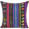 "Black Pink Blue Striped Boho Dhurrie Colorful Decorative Sofa Throw Couch Pillow Cushion Cover - 16, 24"" 1"