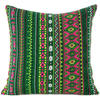 """Green Pink Yellow Stripe Purple Dhurrie Colorful Sofa Throw Couch Pillow Cushion Cover - 16, 24"""" 1"""