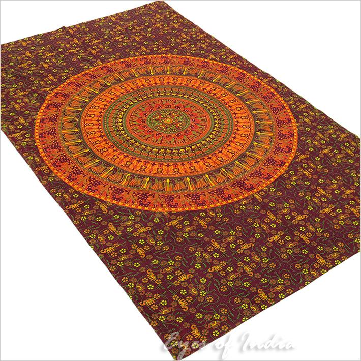 Einzelbett burgund rot hippie indisches mandala for Lesesessel rot