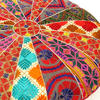 "Colorful Bohemian Embroidered Round Boho Floor Seating Meditation Pillow Cushion Cover - 22"" 4"