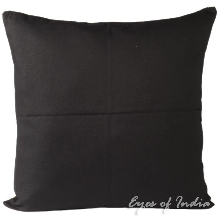 Black Dhurrie Decorative Throw Sofa Pillow Couch Cushion  : lrgPL DUR 24 BLK 220P2 from www.eyesofindia.com size 710 x 710 jpeg 104kB
