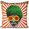"Man with Turban Colorful Decorative Boho Bohemian Pillow Couch Cushion Sofa Throw Cover - 18"" 1"