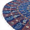 "Colorful Boho Mandala Bohemian Round Floor Seating Meditation Pillow Hippie Cushion Throw Cover - 32"" 5"