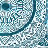 """Mandala Hippie Round Colorful Floor Seating Meditation Pillow Cushion Cover - 32"""" 6"""